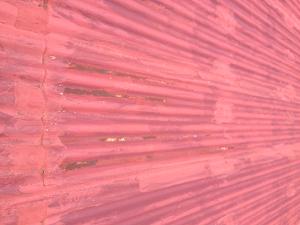 Rusted zinc roof
